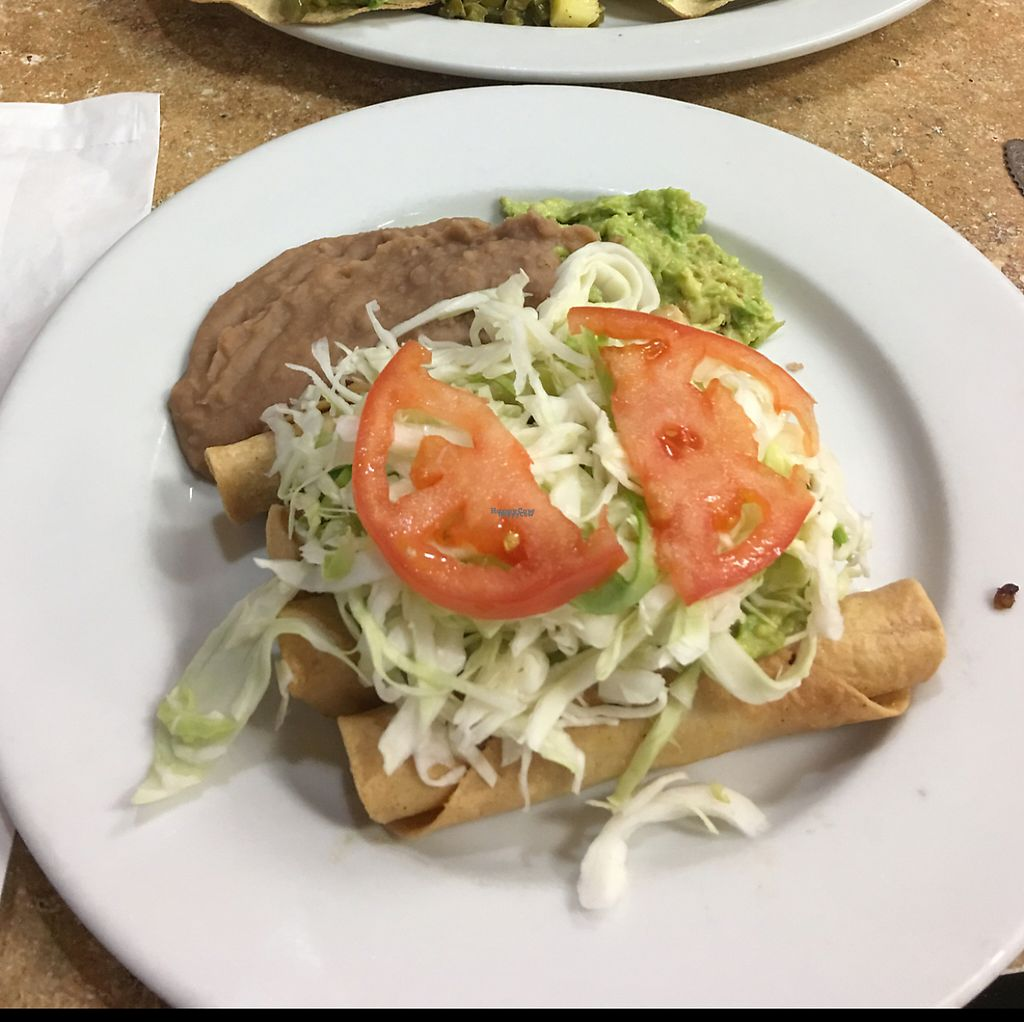 """Photo of El Quinto Sol  by <a href=""""/members/profile/Jdeezy80"""">Jdeezy80</a> <br/>Vegan Flautas <br/> February 23, 2017  - <a href='/contact/abuse/image/41267/229518'>Report</a>"""