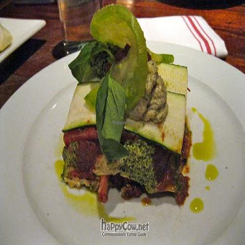 """Photo of CLOSED: Pure Food and Wine  by <a href=""""/members/profile/From%20A%20to%20Vegan"""">From A to Vegan</a> <br/>Zucchini, Local Roma And Heirloom Tomato Lasagna with basil pistachio pesto, sun-dried tomato marinara, macadamia pumpkin seed ricotta <br/> August 16, 2011  - <a href='/contact/abuse/image/4127/10151'>Report</a>"""
