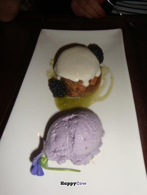 """Photo of CLOSED: Pure Food and Wine  by <a href=""""/members/profile/Sonja%20and%20Dirk"""">Sonja and Dirk</a> <br/>cardamom cake with lavender ice cream <br/> July 21, 2013  - <a href='/contact/abuse/image/4127/51853'>Report</a>"""