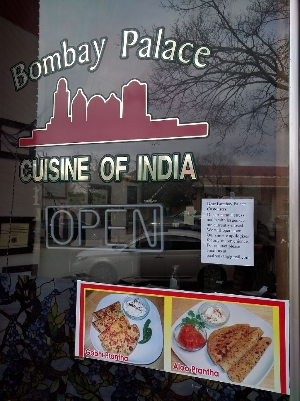 "Photo of CLOSED: Bombay Palace  by <a href=""/members/profile/arcataroger"">arcataroger</a> <br/>Closed as of 12/31/16 due to health issues.  <br/> December 31, 2016  - <a href='/contact/abuse/image/41298/206585'>Report</a>"