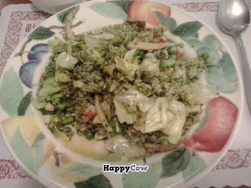 """Photo of Kapok Vegetarian Cafe  by <a href=""""/members/profile/kim2121"""">kim2121</a> <br/>pesto rice with mushrooms <br/> November 5, 2013  - <a href='/contact/abuse/image/41327/57929'>Report</a>"""