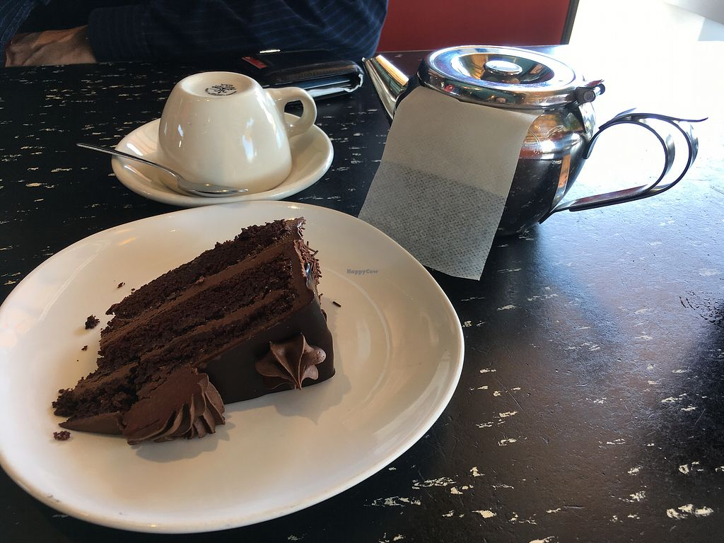 "Photo of Flying Star - Central Ave SE  by <a href=""/members/profile/AlexandraPhillips"">AlexandraPhillips</a> <br/>vegan double chocolate cake and pot of chai tea. So yummy!  <br/> July 10, 2017  - <a href='/contact/abuse/image/41358/278534'>Report</a>"