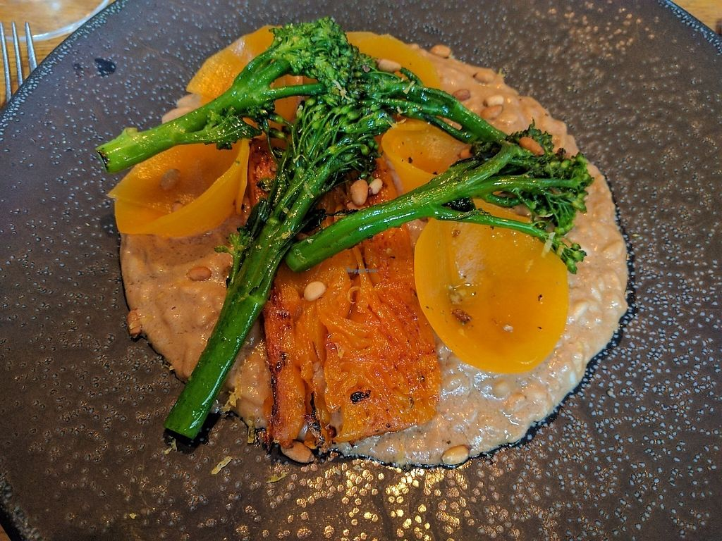 "Photo of Acorn Vegetarian Kitchen  by <a href=""/members/profile/kuuupo"">kuuupo</a> <br/>Delicious squash (and pickled squash) with pine nut risotto and broccoli <br/> May 1, 2017  - <a href='/contact/abuse/image/41362/254474'>Report</a>"