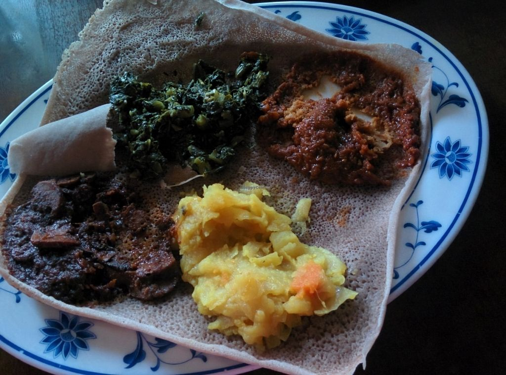 """Photo of Ghenet  by <a href=""""/members/profile/MizzB"""">MizzB</a> <br/>Ethiopian Vegan platter for one <br/> July 10, 2016  - <a href='/contact/abuse/image/41374/158913'>Report</a>"""
