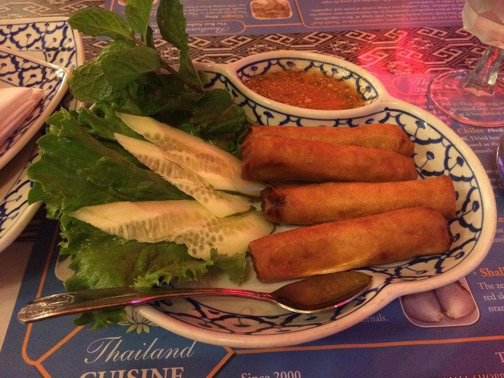 "Photo of Thailand Cuisine  by <a href=""/members/profile/Posi%20Britt"">Posi Britt</a> <br/>Veggie spring rolls <br/> April 26, 2015  - <a href='/contact/abuse/image/41444/100368'>Report</a>"