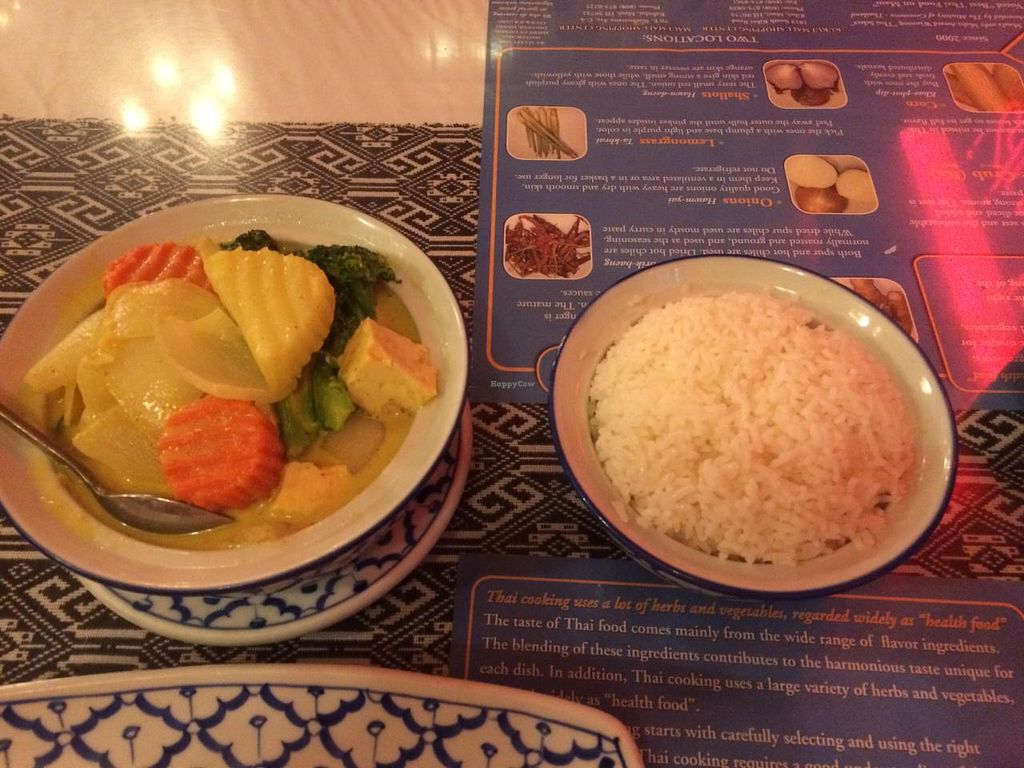 "Photo of Thailand Cuisine  by <a href=""/members/profile/Posi%20Britt"">Posi Britt</a> <br/>Yellow potato curry with rice <br/> April 26, 2015  - <a href='/contact/abuse/image/41444/100369'>Report</a>"