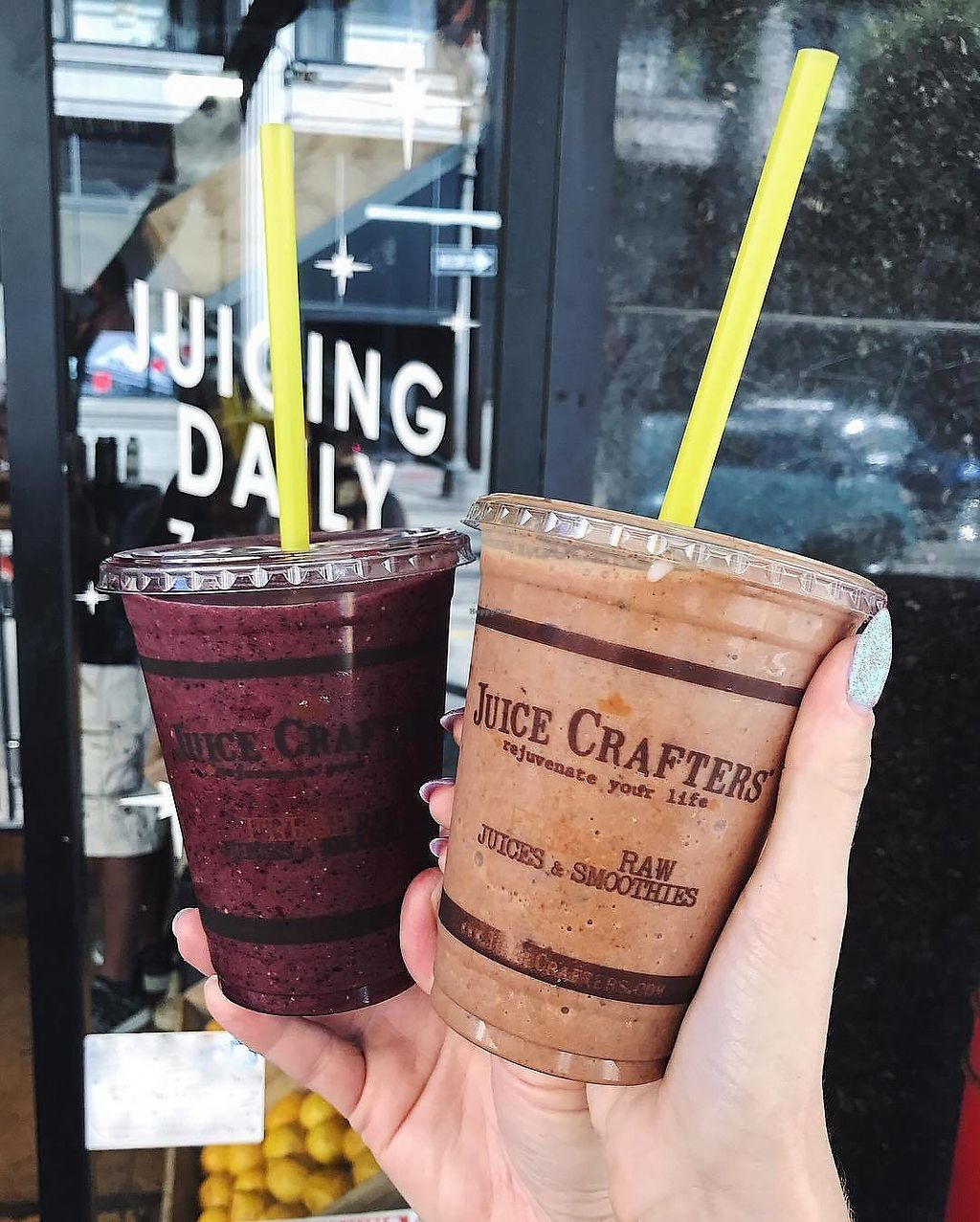 """Photo of Juice Crafters  by <a href=""""/members/profile/JuiceCrafters"""">JuiceCrafters</a> <br/>• Fountain of Youth Smoothie • Crunchy Monkey Smoothie <br/> December 10, 2017  - <a href='/contact/abuse/image/41447/334173'>Report</a>"""