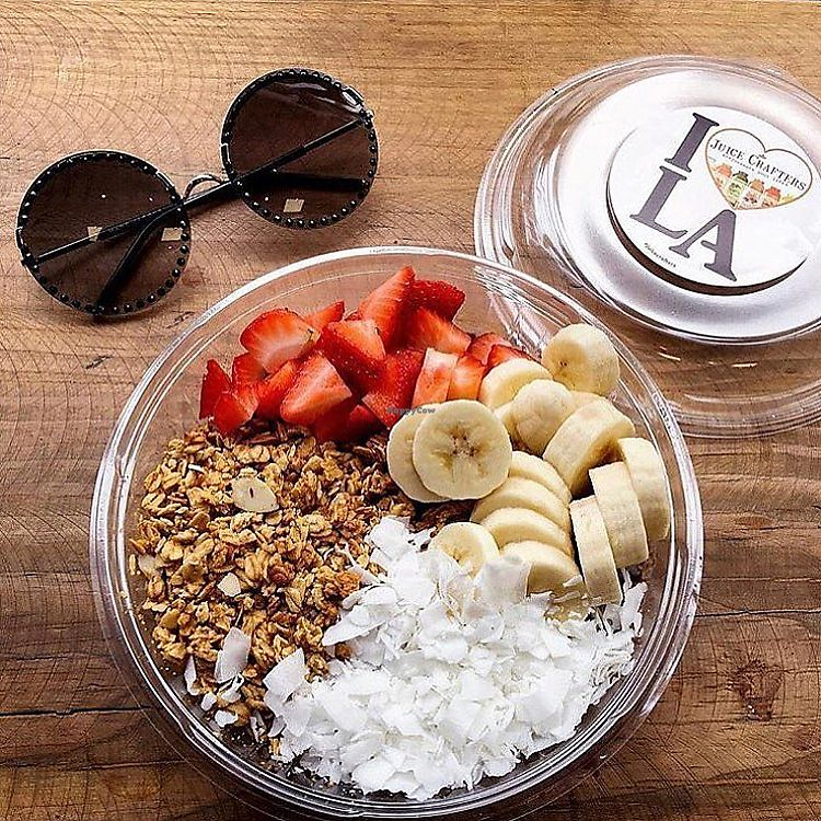 """Photo of Juice Crafters  by <a href=""""/members/profile/JuiceCrafters"""">JuiceCrafters</a> <br/>ACAI BOWL: BRAZILIAN SUPER BLEND – Amazonian acai, almond granola, banana, strawberries & coconut flakes <br/> January 9, 2018  - <a href='/contact/abuse/image/41449/344756'>Report</a>"""