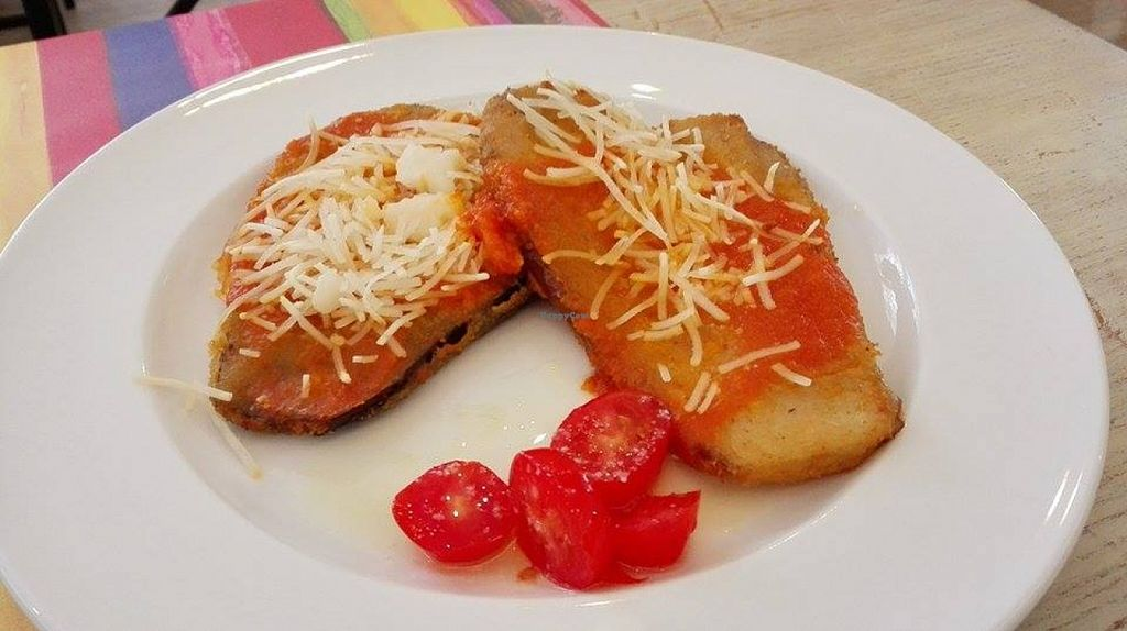 """Photo of Vita Viridis Restaurant  by <a href=""""/members/profile/Neusbkk"""">Neusbkk</a> <br/>eggplants 'escalope' with tofu cheese <br/> September 12, 2015  - <a href='/contact/abuse/image/41476/117477'>Report</a>"""