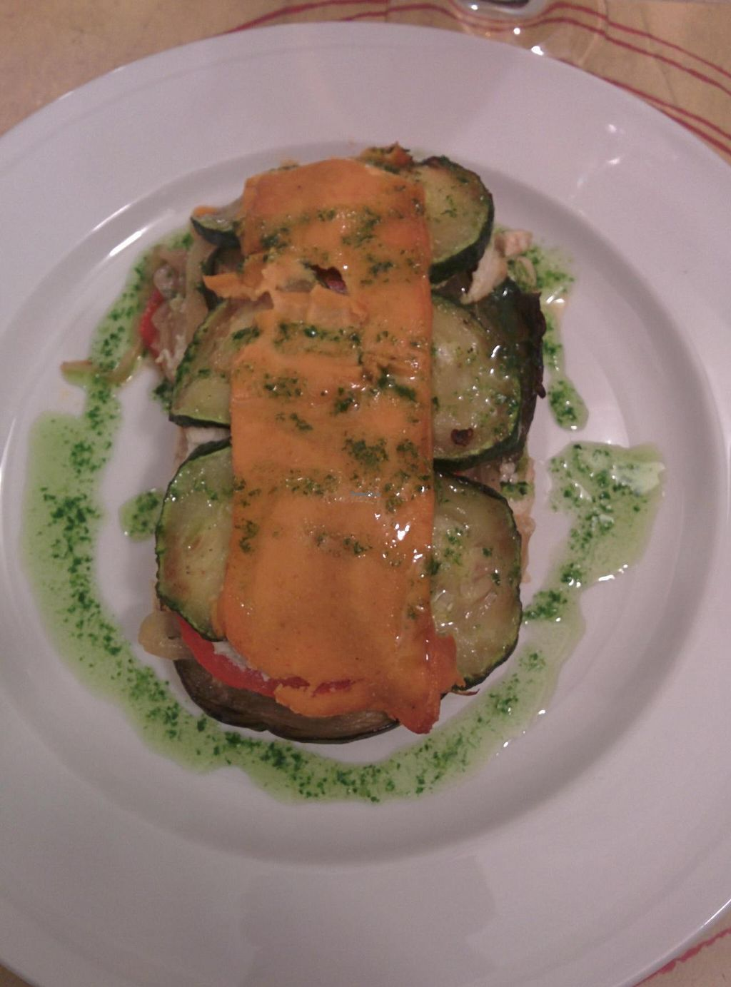 """Photo of Vita Viridis Restaurant  by <a href=""""/members/profile/Harp"""">Harp</a> <br/>Eggplant lasagna <br/> July 31, 2014  - <a href='/contact/abuse/image/41476/75613'>Report</a>"""