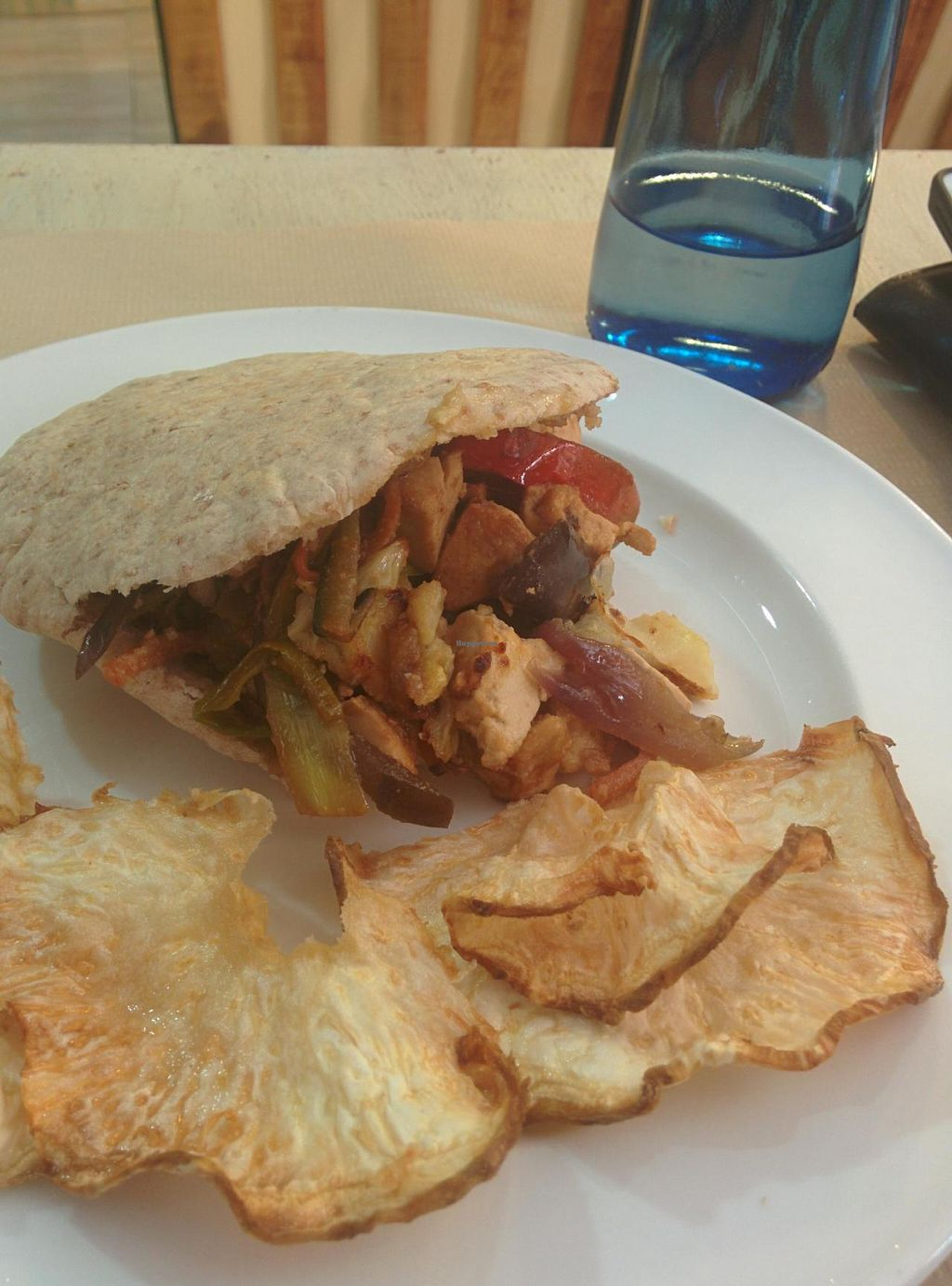 """Photo of Vita Viridis Restaurant  by <a href=""""/members/profile/Harp"""">Harp</a> <br/>Smoked tofu pita <br/> July 31, 2014  - <a href='/contact/abuse/image/41476/75634'>Report</a>"""