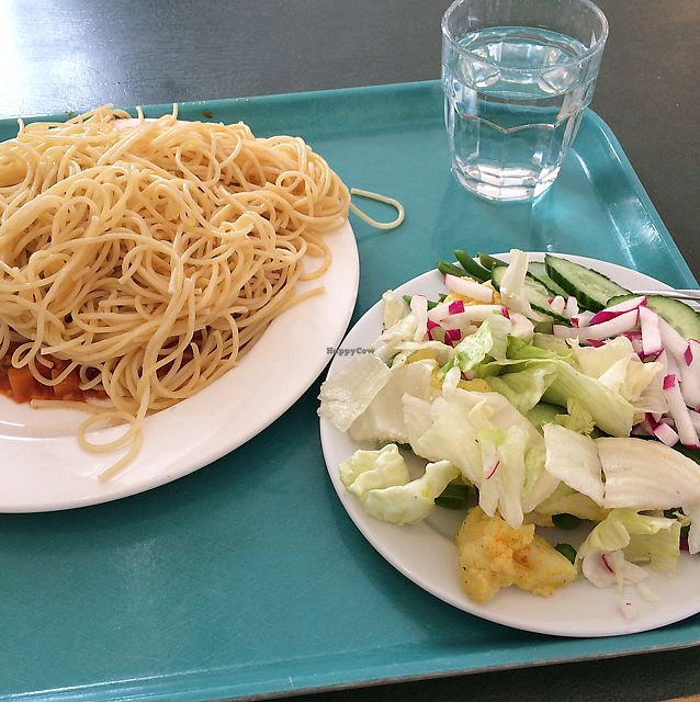 """Photo of Unicafe  by <a href=""""/members/profile/Veg_Anu"""">Veg_Anu</a> <br/>Spaghetti and vegan bolognese <br/> June 7, 2017  - <a href='/contact/abuse/image/4150/266750'>Report</a>"""