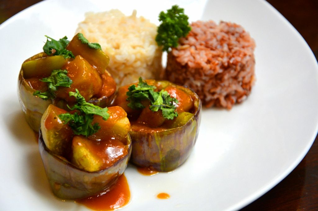 """Photo of Live Life Vegetarian Food  by <a href=""""/members/profile/konserns"""">konserns</a> <br/>Eggplant saikyu <br/> May 22, 2016  - <a href='/contact/abuse/image/41513/150375'>Report</a>"""