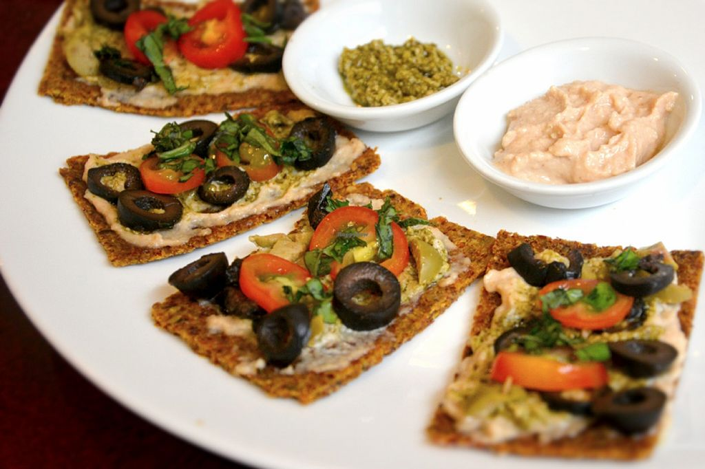 """Photo of Live Life Vegetarian Food  by <a href=""""/members/profile/konserns"""">konserns</a> <br/>Tapas with humus dressing <br/> May 22, 2016  - <a href='/contact/abuse/image/41513/150385'>Report</a>"""
