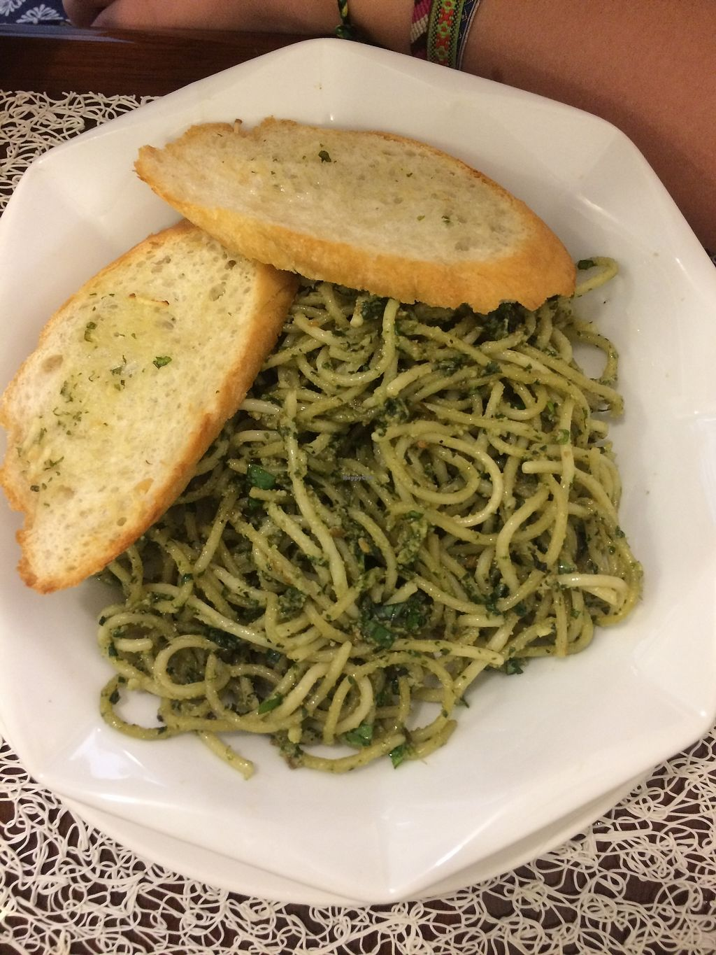 """Photo of Live Life Vegetarian Food  by <a href=""""/members/profile/Bethevegan"""">Bethevegan</a> <br/>Pesto pasta <br/> March 20, 2018  - <a href='/contact/abuse/image/41513/373333'>Report</a>"""