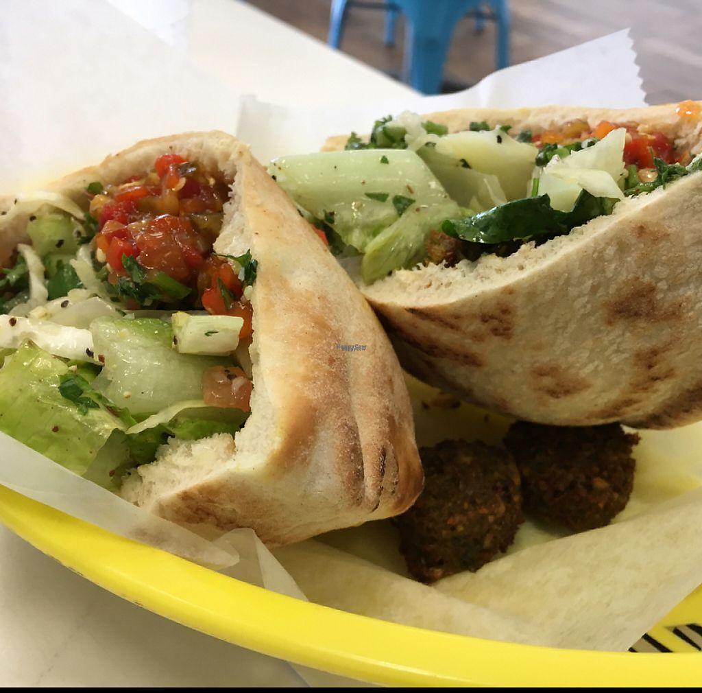 """Photo of Hubbly Bubbly Falafel Shop  by <a href=""""/members/profile/KWdaddio"""">KWdaddio</a> <br/>Falafel sandwich  <br/> December 31, 2016  - <a href='/contact/abuse/image/41515/206571'>Report</a>"""