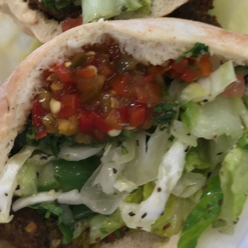 """Photo of Hubbly Bubbly Falafel Shop  by <a href=""""/members/profile/KWdaddio"""">KWdaddio</a> <br/>falafel sandwich <br/> December 31, 2016  - <a href='/contact/abuse/image/41515/206572'>Report</a>"""