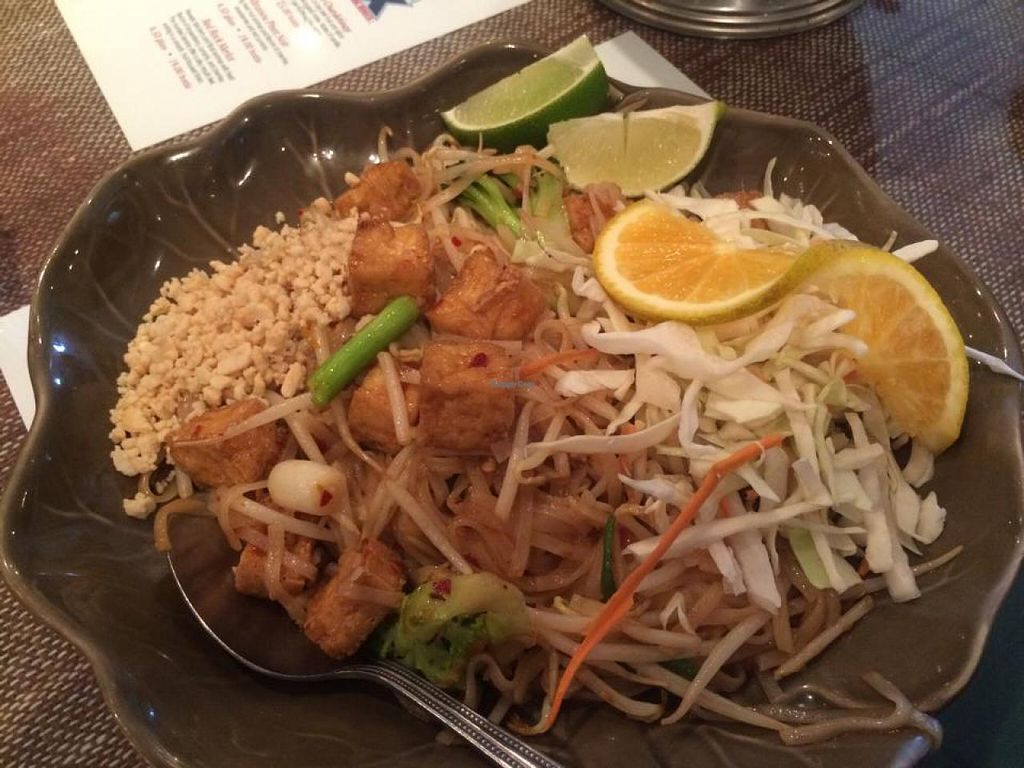 "Photo of Sawasdee Thai Cuisine  by <a href=""/members/profile/Meggie%20and%20Ben"">Meggie and Ben</a> <br/>Vegan Pad Thai <br/> August 16, 2014  - <a href='/contact/abuse/image/41522/77163'>Report</a>"