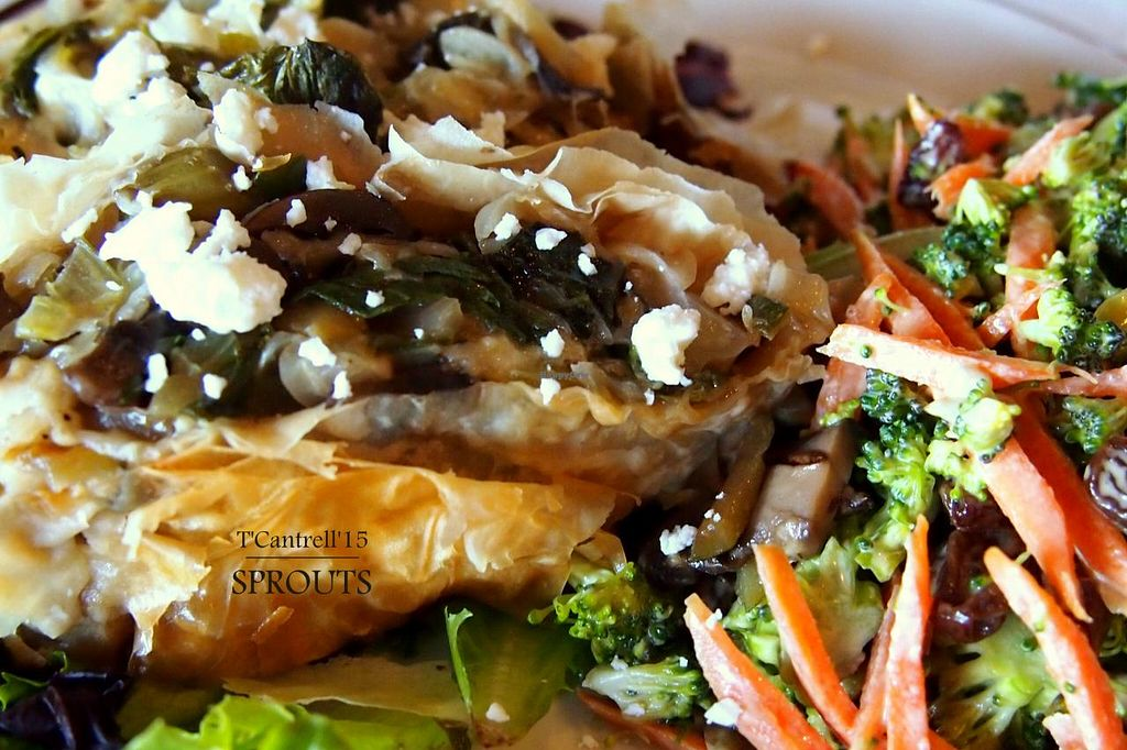 """Photo of Sprouts Cafe  by <a href=""""/members/profile/TammyCantrell"""">TammyCantrell</a> <br/>Happy Meatless Monday! Today's special is a wonderful Vegetable Strudel! Flaky Phyllo Dough filled with Savory Grilled Vegetable Filling and Gouda Cheese!  <br/> May 4, 2015  - <a href='/contact/abuse/image/41561/101192'>Report</a>"""