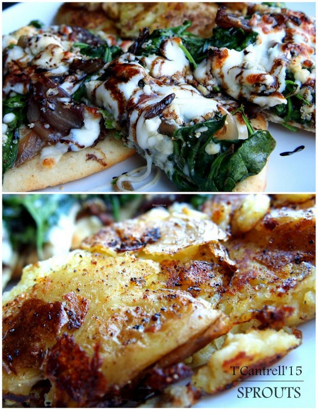 """Photo of Sprouts Cafe  by <a href=""""/members/profile/TammyCantrell"""">TammyCantrell</a> <br/> Caramelized Onion Gorgonzola & Spinach Pizza!  <br/> March 6, 2015  - <a href='/contact/abuse/image/41561/95036'>Report</a>"""