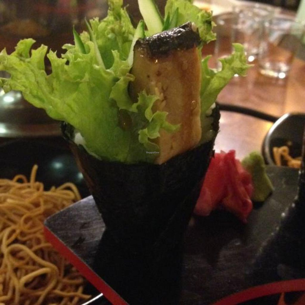 """Photo of CLOSED: Raku Raku Vegetarian Steamboat and Japanese Cuisine  by <a href=""""/members/profile/AndyT"""">AndyT</a> <br/>Unagi Avocado Temaki <br/> May 26, 2014  - <a href='/contact/abuse/image/41581/70773'>Report</a>"""