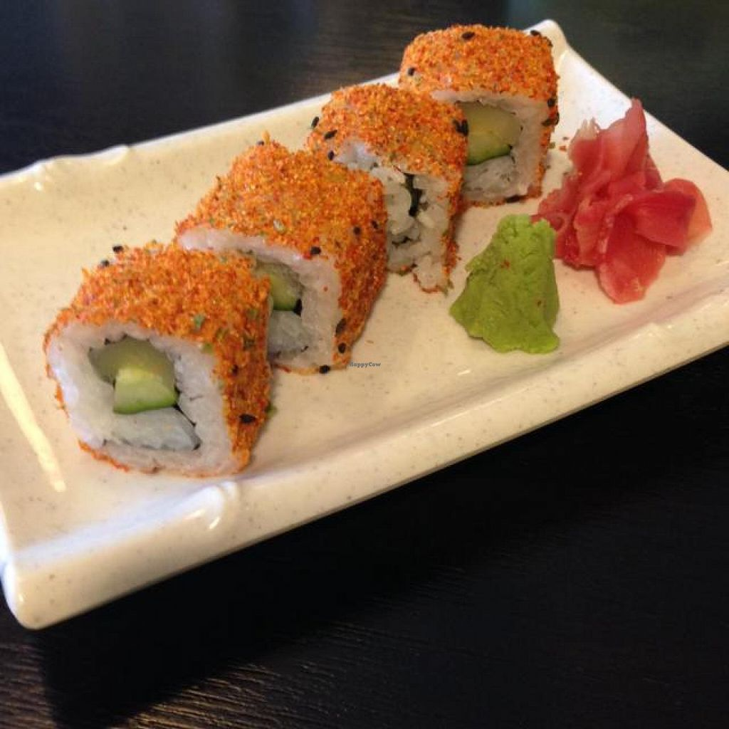 """Photo of CLOSED: Raku Raku Vegetarian Steamboat and Japanese Cuisine  by <a href=""""/members/profile/AndyT"""">AndyT</a> <br/>Spicy salmon maki <br/> May 30, 2014  - <a href='/contact/abuse/image/41581/71043'>Report</a>"""