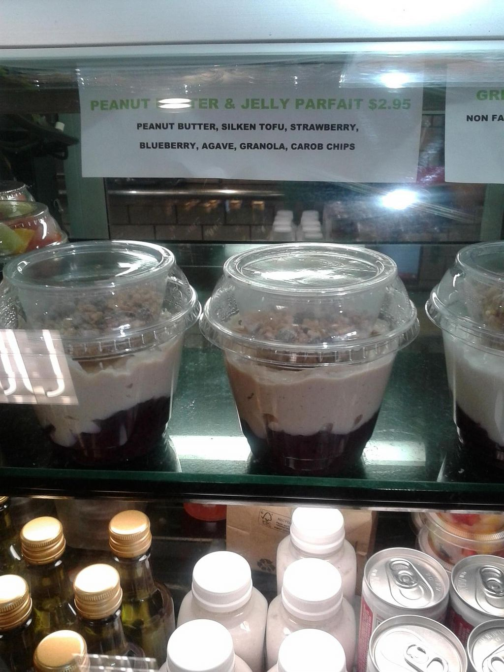 "Photo of Green Tomato Grill  by <a href=""/members/profile/chobesoy"">chobesoy</a> <br/>yummy pbj vegan parfait <br/> November 20, 2014  - <a href='/contact/abuse/image/41587/86112'>Report</a>"