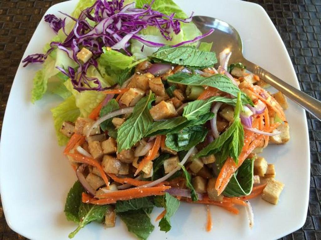"""Photo of Veggie House  by <a href=""""/members/profile/cha-yen%20monster"""">cha-yen monster</a> <br/>soy chicken larb <br/> May 10, 2014  - <a href='/contact/abuse/image/41594/69754'>Report</a>"""