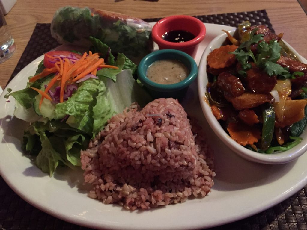 """Photo of CLOSED: Thai Vegan  by <a href=""""/members/profile/CBT"""">CBT</a> <br/>I love the Parham's Plate (soy chicken in peanut sauce on a bed of spinach) at the amazing Thai Vegan. Everything I've tried (more than 10 visits) has been great. Little chef with a big heart.  <br/> December 1, 2015  - <a href='/contact/abuse/image/41622/126852'>Report</a>"""