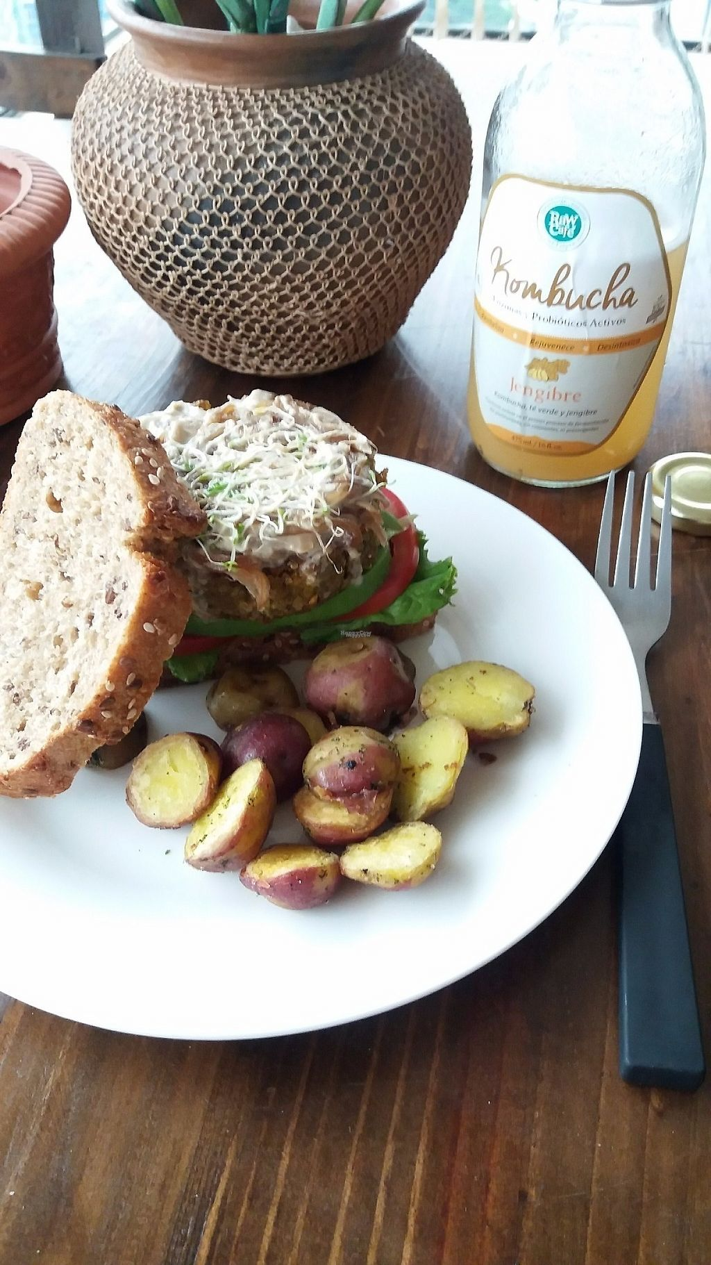 "Photo of Raw Cafe - Independencia  by <a href=""/members/profile/Arta"">Arta</a> <br/>Quinoa burger <br/> March 20, 2017  - <a href='/contact/abuse/image/41640/238895'>Report</a>"