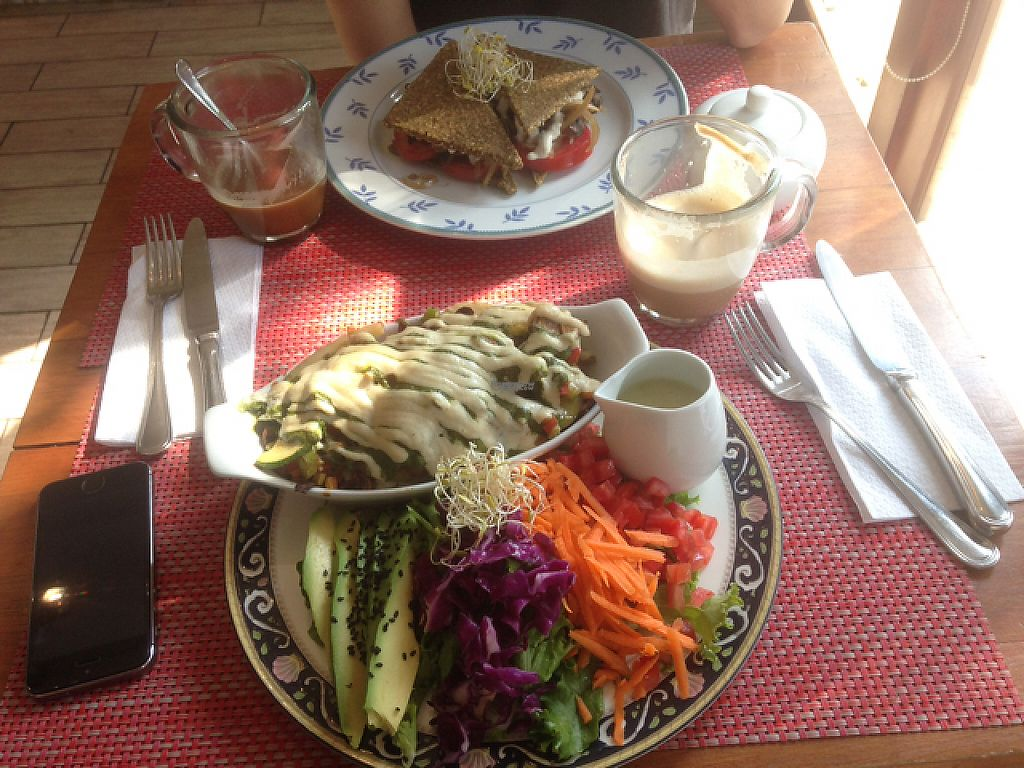 "Photo of Raw Cafe - Independencia  by <a href=""/members/profile/Sascha98765"">Sascha98765</a> <br/>portobello sandwich and potatoe gratin <br/> April 20, 2017  - <a href='/contact/abuse/image/41640/250247'>Report</a>"