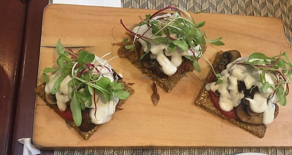 "Photo of Raw Cafe - Independencia  by <a href=""/members/profile/beticita"">beticita</a> <br/>Portobello mushroom appetizer with cashew cheese...amazing <br/> December 11, 2017  - <a href='/contact/abuse/image/41640/334701'>Report</a>"