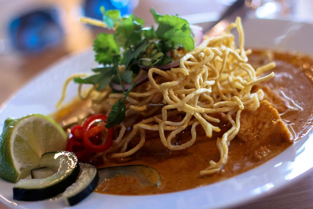 """Photo of My Vegan Gold  by <a href=""""/members/profile/veroaero"""">veroaero</a> <br/>Gold Edition Noodles - two types of curry (red and yellow) with two types of noodles <br/> February 15, 2015  - <a href='/contact/abuse/image/41660/93180'>Report</a>"""