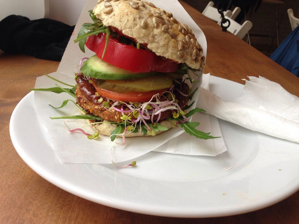 "Photo of Avocado Vegan Bistro - Wajdeloty  by <a href=""/members/profile/HannaMy"">HannaMy</a> <br/>Millet veggie burger. 14 zl  <br/> March 6, 2015  - <a href='/contact/abuse/image/41675/95026'>Report</a>"