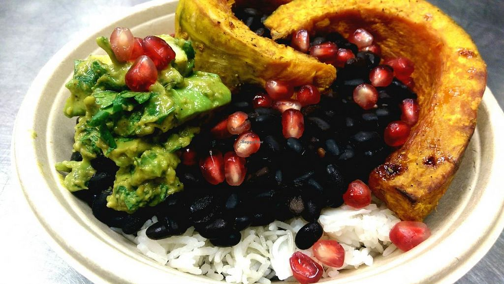 """Photo of Whole Health  by <a href=""""/members/profile/megster3"""">megster3</a> <br/>Chef's choice lunch bowl w/black beans, squash, and coconut rice <br/> March 10, 2015  - <a href='/contact/abuse/image/41677/95357'>Report</a>"""