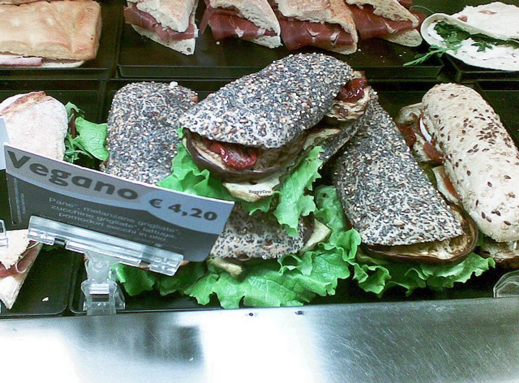 """Photo of Chef Express  by <a href=""""/members/profile/lallilaranja"""">lallilaranja</a> <br/>There is really a vegan sandwich, something that surprised me because this chain is owned by Italy's largest meat producer. (If that bothers you, leave the station, right at the bottom of the square there is a supermarket) <br/> March 1, 2014  - <a href='/contact/abuse/image/41695/64988'>Report</a>"""