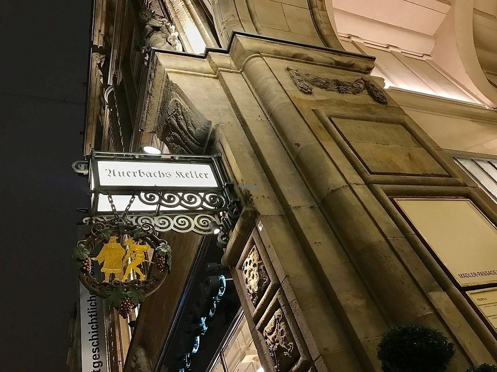 """Photo of Auerbachs Keller  by <a href=""""/members/profile/marky_mark"""">marky_mark</a> <br/>sign of auerbach's restaurant outside (street front) <br/> January 19, 2017  - <a href='/contact/abuse/image/41701/213290'>Report</a>"""