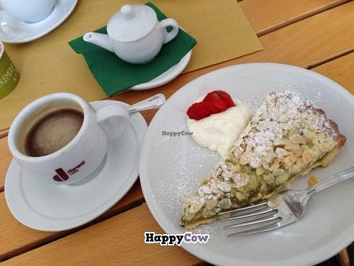 "Photo of Kosher Bistrot Caffe  by <a href=""/members/profile/SteffenS"">SteffenS</a> <br/>Americano with soymilk and cake with soy whipped cream <br/> September 23, 2013  - <a href='/contact/abuse/image/41716/55473'>Report</a>"