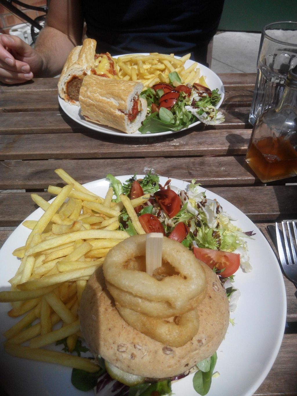 """Photo of Teatime Collective  by <a href=""""/members/profile/RJS"""">RJS</a> <br/>Meatball sub and stuffed burger <br/> July 10, 2015  - <a href='/contact/abuse/image/41717/108764'>Report</a>"""