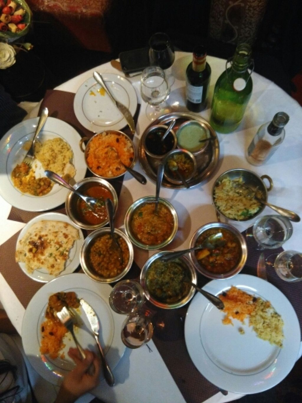 """Photo of Le Rajwal  by <a href=""""/members/profile/Flavie"""">Flavie</a> <br/>4 vegan curry choices and tow kind of rices  <br/> January 6, 2016  - <a href='/contact/abuse/image/41721/131325'>Report</a>"""
