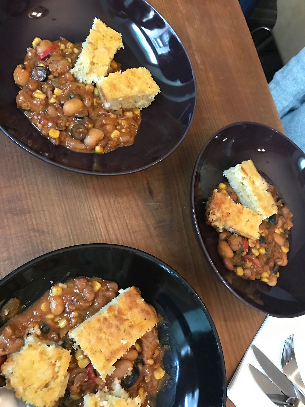 """Photo of Vegan Bar  by <a href=""""/members/profile/AnaBanannaPancake"""">AnaBanannaPancake</a> <br/>Chilli with corn bread  <br/> November 12, 2017  - <a href='/contact/abuse/image/41723/324645'>Report</a>"""