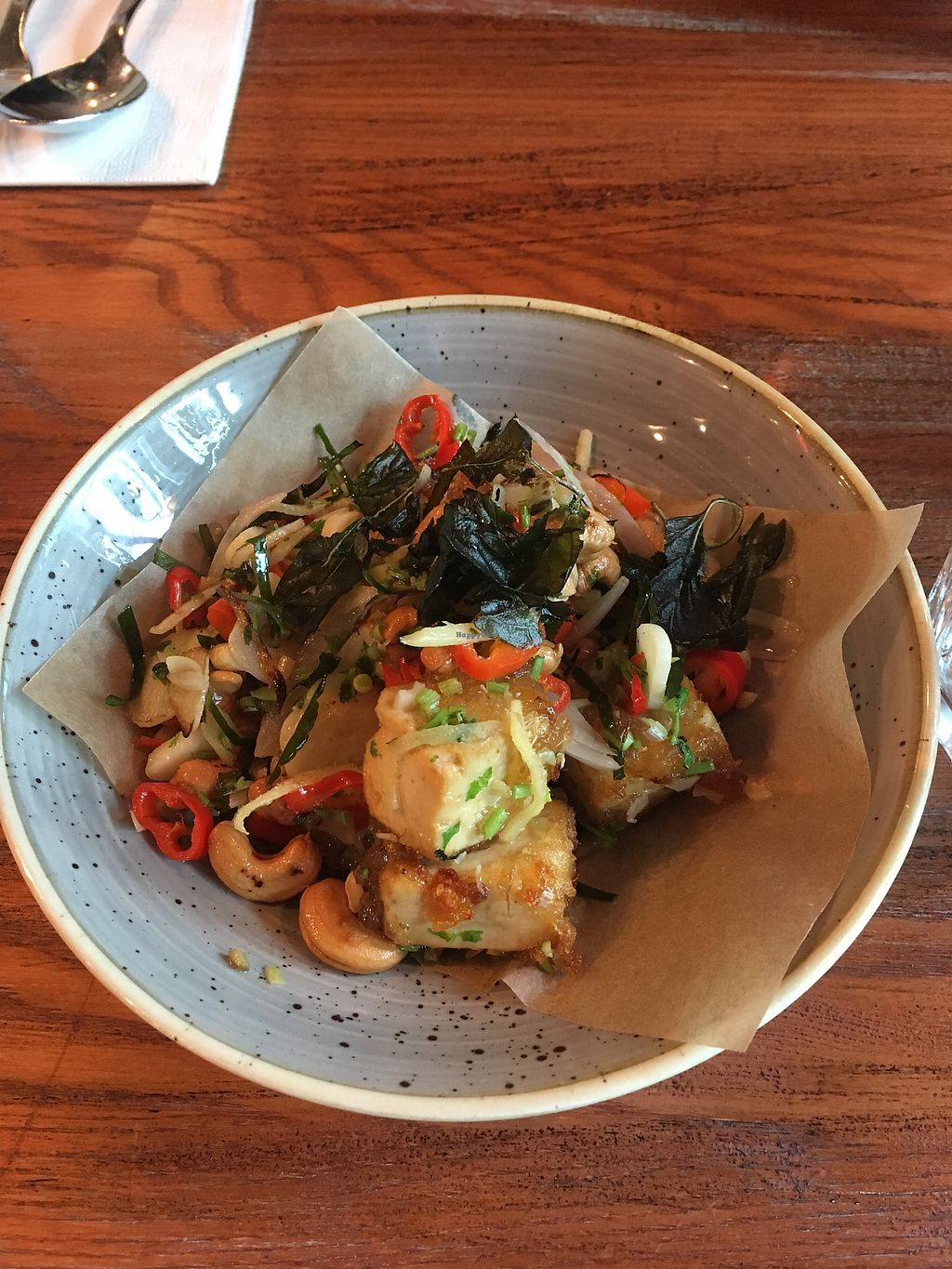 "Photo of Cha Cha  by <a href=""/members/profile/_zelisa"">_zelisa</a> <br/>Fried tofu with basil, cashews and spicy peppers <br/> March 3, 2018  - <a href='/contact/abuse/image/41726/366255'>Report</a>"