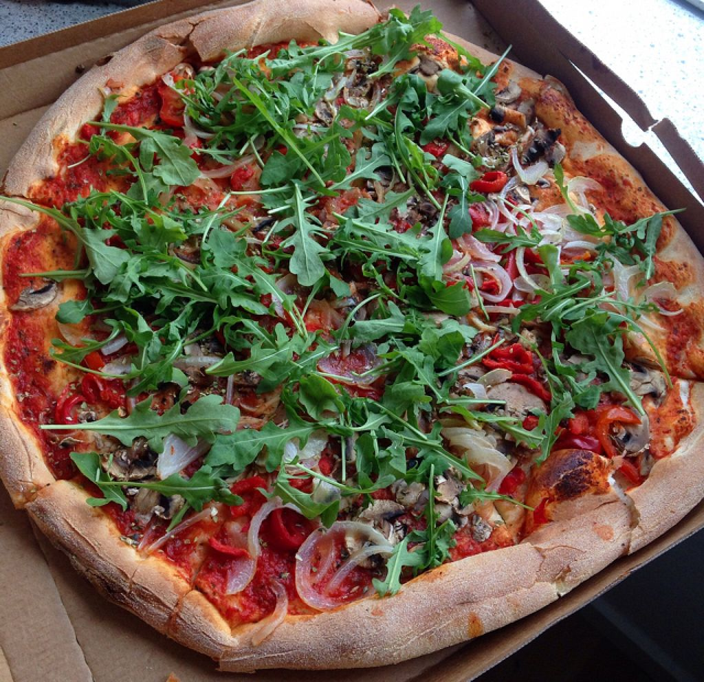 """Photo of Express Pizza  by <a href=""""/members/profile/VeganEllise"""">VeganEllise</a> <br/>vegan pizza  <br/> October 24, 2015  - <a href='/contact/abuse/image/41789/122508'>Report</a>"""