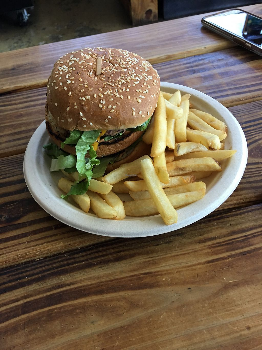 """Photo of Organix Vegan Deli  by <a href=""""/members/profile/Wallice"""">Wallice</a> <br/>Mac Daddy Burger  <br/> September 9, 2017  - <a href='/contact/abuse/image/41816/302748'>Report</a>"""