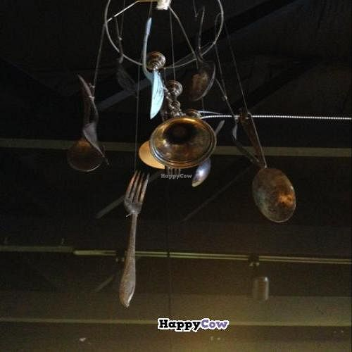 """Photo of Eco-Bean Organic Coffee House  by <a href=""""/members/profile/NomNomNominator"""">NomNomNominator</a> <br/>neat wind chime in the shop <br/> December 3, 2013  - <a href='/contact/abuse/image/41819/59753'>Report</a>"""