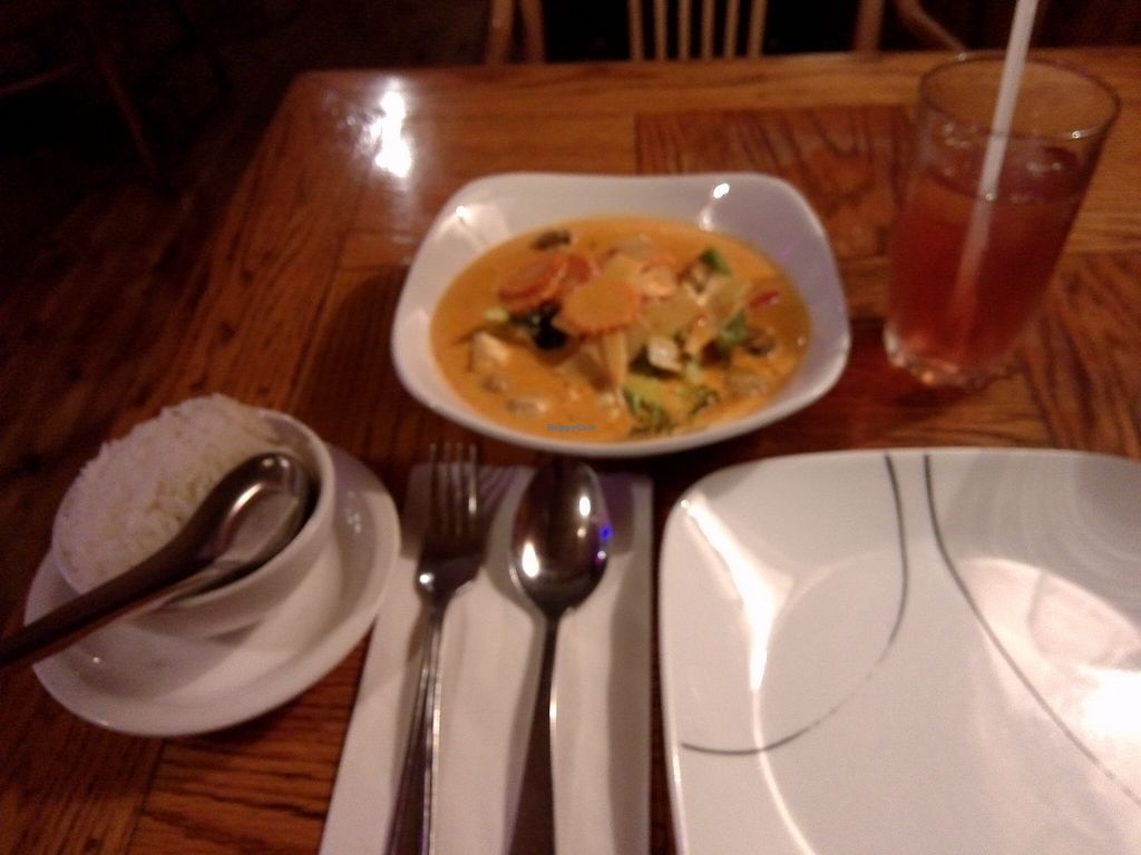 "Photo of Siam Thai Restaurant  by <a href=""/members/profile/Ryecatcher"">Ryecatcher</a> <br/>Vegetarian curry with (small bowl of) rice <br/> September 28, 2015  - <a href='/contact/abuse/image/41850/119524'>Report</a>"