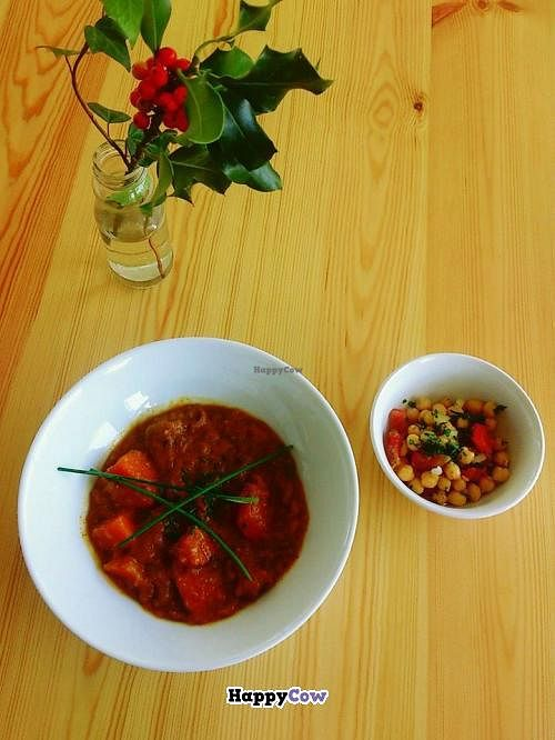 """Photo of Sopa - Boronat  by <a href=""""/members/profile/Harp"""">Harp</a> <br/>Carrot soup and chickpeas salad <br/> December 4, 2013  - <a href='/contact/abuse/image/41858/59769'>Report</a>"""
