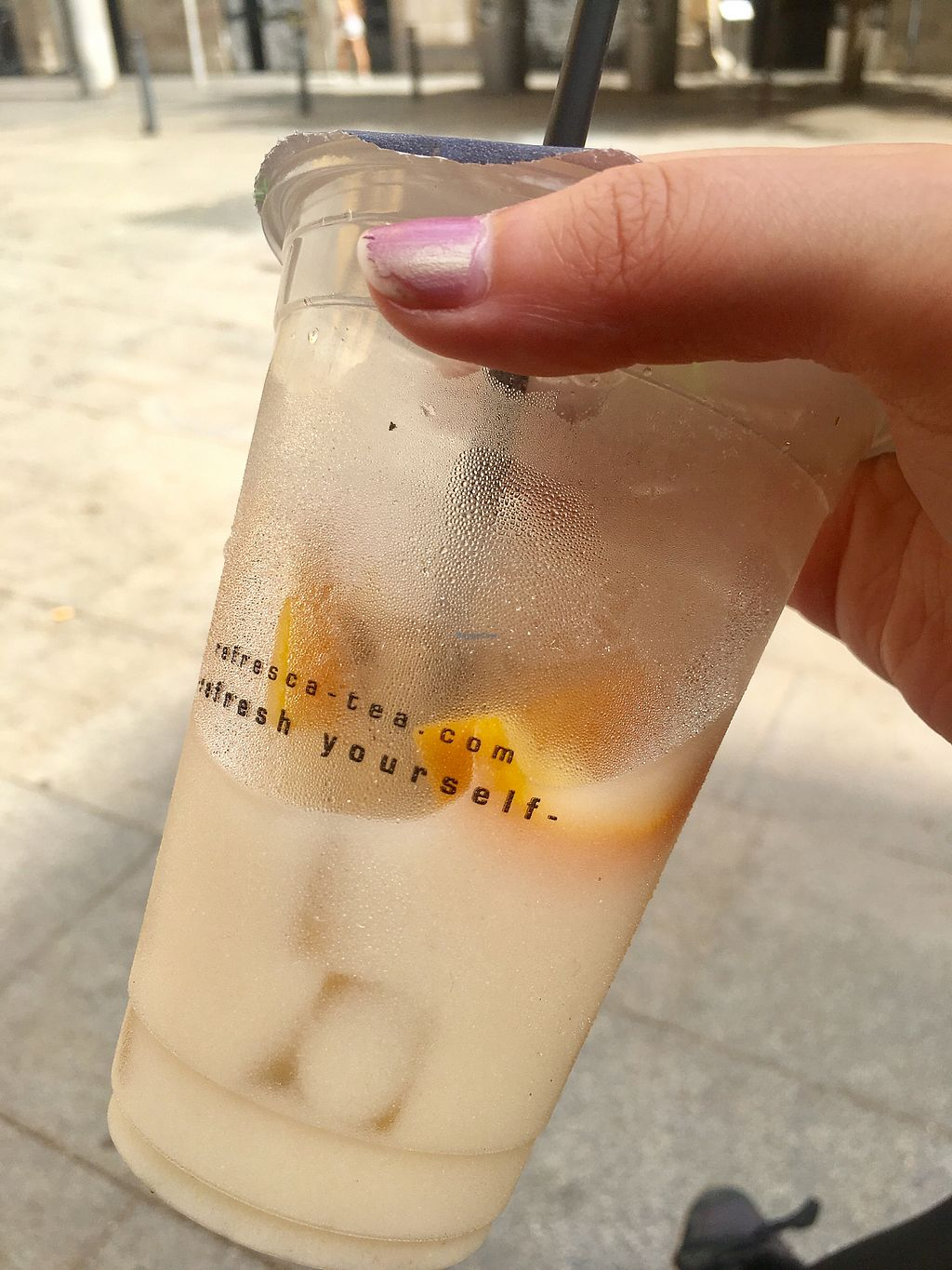 """Photo of Refresca Tea - El Born  by <a href=""""/members/profile/megj"""">megj</a> <br/>Sweet Fruit Chai with soy milk <br/> July 19, 2017  - <a href='/contact/abuse/image/41948/282083'>Report</a>"""