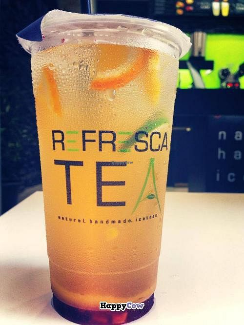 """Photo of Refresca Tea - El Born  by <a href=""""/members/profile/phil_rides"""">phil_rides</a> <br/>Delicious fruit IceTeas - this one is a mix of orange with strawberry! <br/> October 9, 2013  - <a href='/contact/abuse/image/41948/56442'>Report</a>"""