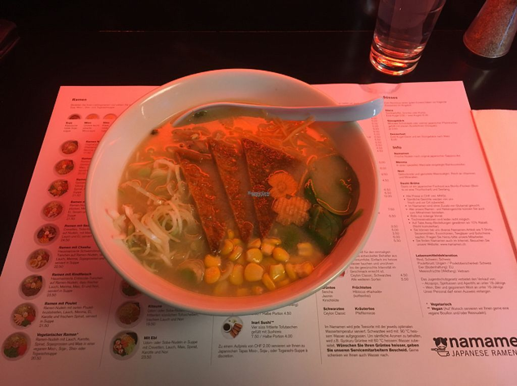 """Photo of Namanen  by <a href=""""/members/profile/Marc_travelsalot"""">Marc_travelsalot</a> <br/>vegan Ramen + Tofu (3.-) <br/> December 22, 2016  - <a href='/contact/abuse/image/41960/204028'>Report</a>"""